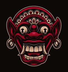 A traditional indonesian mask vector