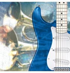 Abstract blue grunge music background with vector
