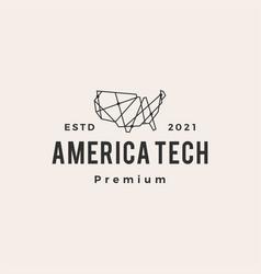 america tech geometric polygonal hipster vintage vector image