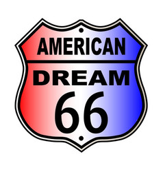 American dream route 66 sign vector