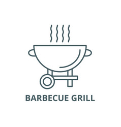 barbecue grill line icon barbecue grill vector image