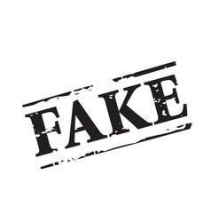 Black stamp and fake news vector