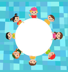 blank poster with kids vector image