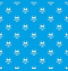 Brassiere pattern seamless blue vector