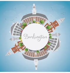 Burlington Vermont City Skyline vector
