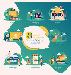 business online shop collection vector image
