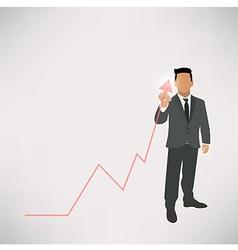 Businessman graph up vector