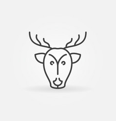 christmas reindeer line icon vector image