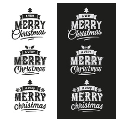 Christmas Set Of Typographic Design vector image