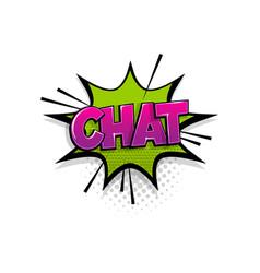 comic text chat speech bubble pop art style vector image