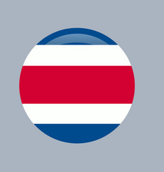 costa rican national official flag patriotic vector image