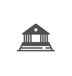 Court building icon administration justice vector