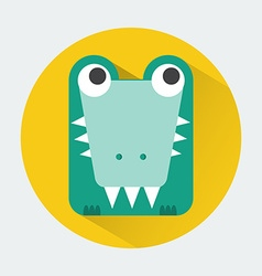 Crocodile Baby Animal Icon vector image