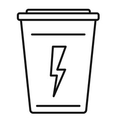 fresh energy drink icon outline style vector image