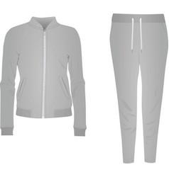 grey women tracksuit vector image