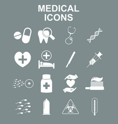 healthcare and medical icon set vector image