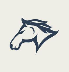 horse logo design icon vector image