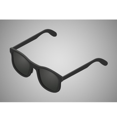 Isometric black sunglasses vector