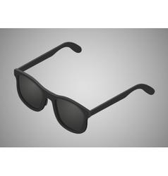 Isometric black sunglasses vector image vector image