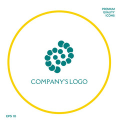 Logo - two spirals chains of circles - a symbol vector
