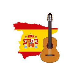 Map classic icon of spanish culture vector