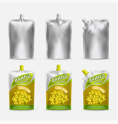 Mustard package mockup set realistic vector