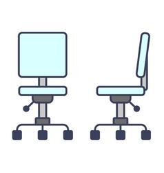 office chairtable lamp desk reading icon flat vector image