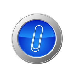 paperclip button vector image