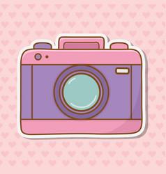 photographic camera icon vector image