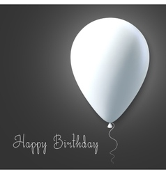 photorealistic air balloons happy birthday vector image