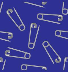pin seamless pattern vector image