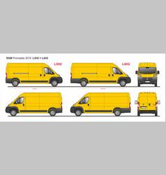 Ram promaster cargo van l3h2 and l4h2 2018 vector