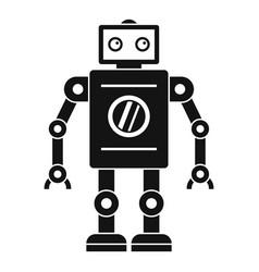 retro robot icon simple style vector image