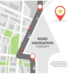 Road navigation concept vector