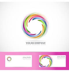 Rotation circle corporate logo vector