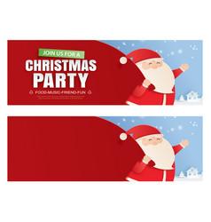 santa claus and a huge bag gifts vector image