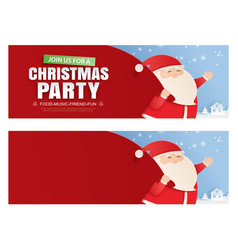 santa claus and a huge bag gifts with vector image