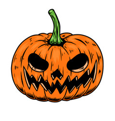 scary halloween pumpkin design element vector image