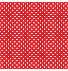 seamless red polka dot vector image