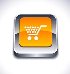 Shopping 3d button vector
