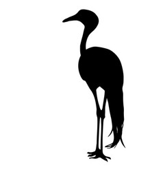 silhouette bird crane on a white background vector image