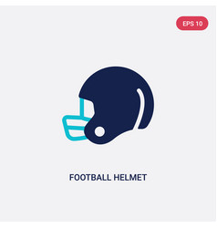 two color football helmet icon from american vector image