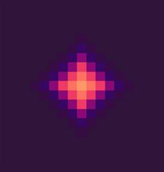 Ultraviolet star shiny award pixel game vector