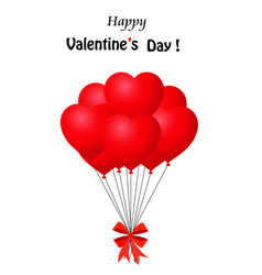 valentines day greeting card with bunch of red vector image