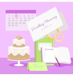 Wedding Planning Concept in Flat Design vector