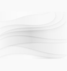 white realistic soft paper waves texture vector image