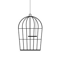 birdcage black vector image