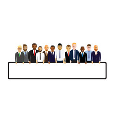 business men in a line vector image vector image