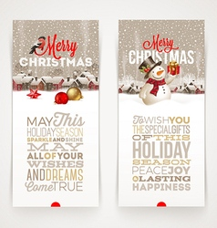 Christmas banners with type design vector image