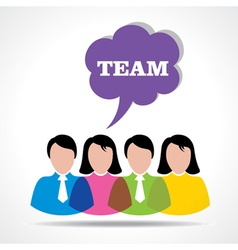 people teamwork concept with message bubble vector image vector image